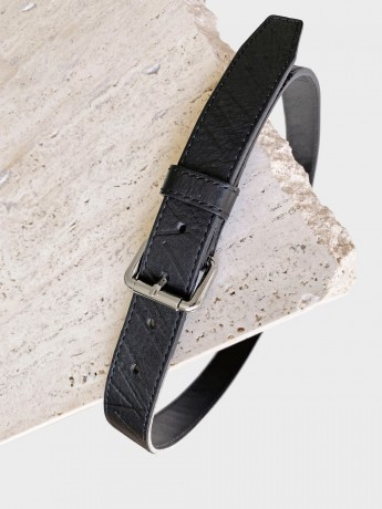 BELT SCRIBBLE BLACK